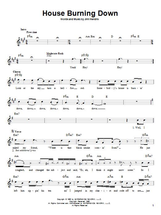 jimi hendrix chords:
