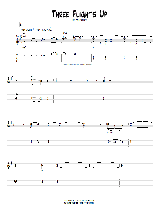 Tablature guitare Three Flights Up de Pat Metheny - Tablature Guitare