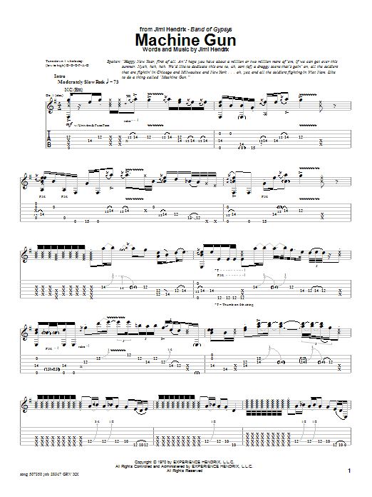 machine gun bass tab