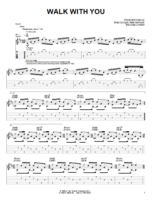 Tablature guitare Walk With You de Dispatch - Tablature Guitare