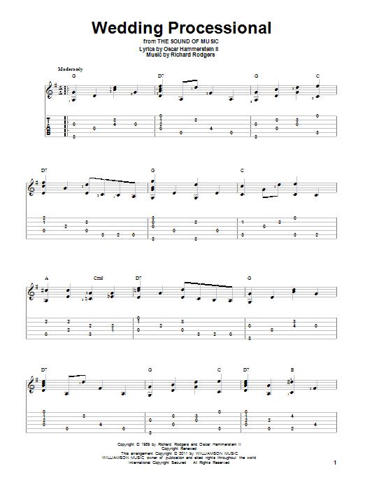 Tablature guitare Wedding Processional de Rodgers & Hammerstein - Tablature Guitare
