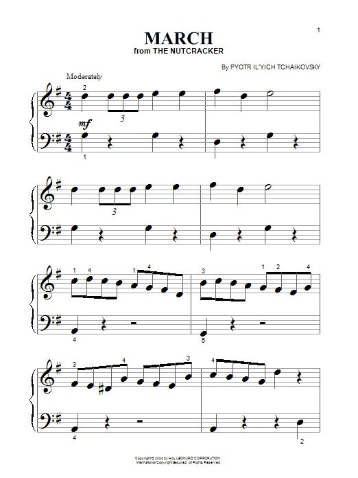 Partition piano March de Pyotr Ilyich Tchaikovsky - Piano Facile