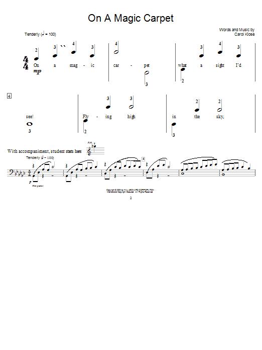 Partition piano On A Magic Carpet de Carol Klose - Piano Solo