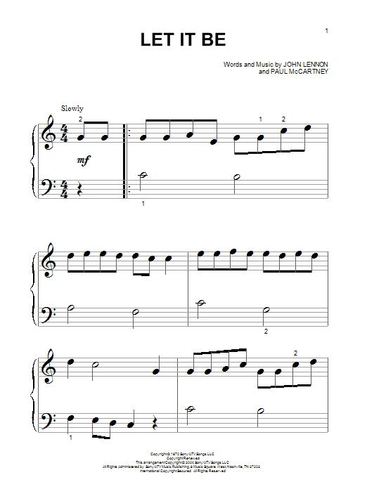 Partition piano Let It Be de The Beatles - Autre
