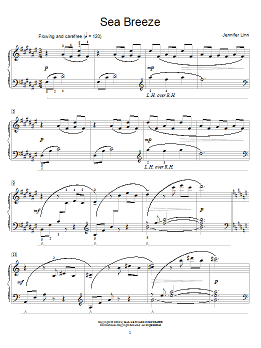 Partition piano Sea Breeze de Jennifer Linn - Piano Solo