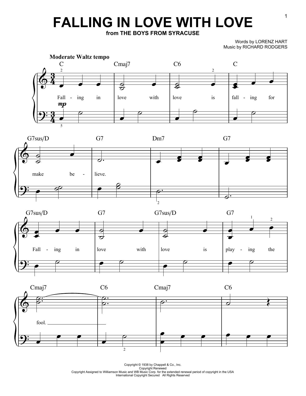 Partition piano Falling In Love With Love de Frank Sinatra - Piano Facile