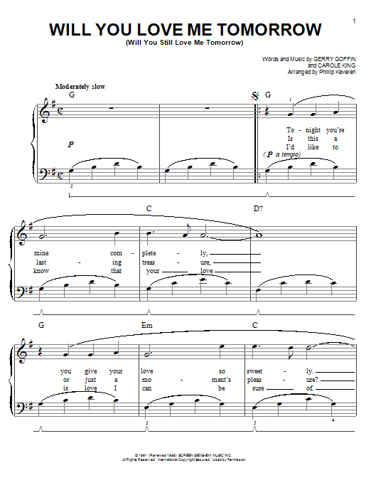 Sheet Music Digital Files To Print - Licensed Carole King Digital ...