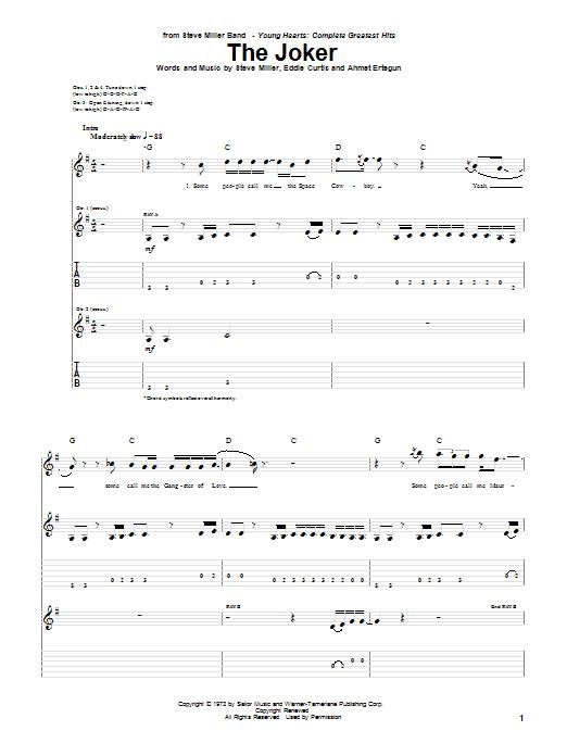 Sheet Music Digital Files To Print Licensed Steve Miller Band