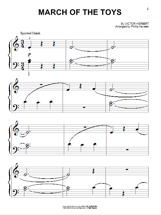 Partition piano March Of The Toys de Victor Herbert - Piano Facile