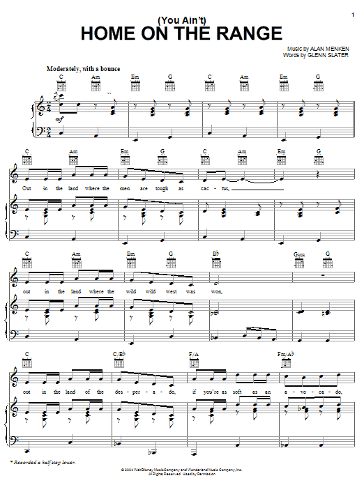 Sheet Music Digital Files To Print - Licensed Alan Menken Digital ...