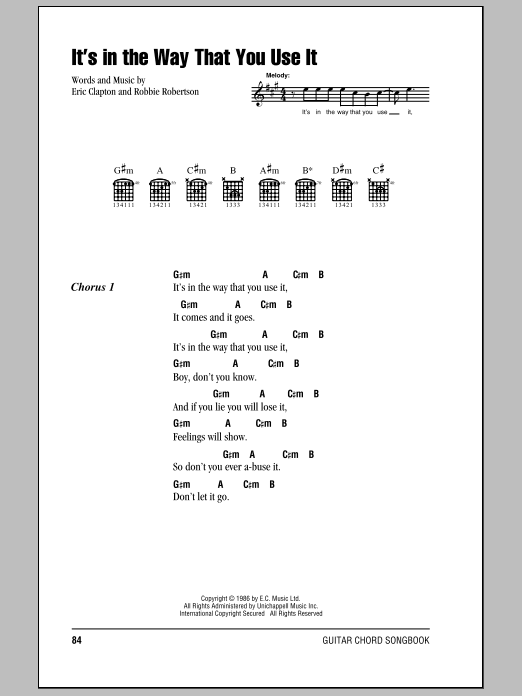 Sheet Music Digital Files To Print - Licensed Robbie Robertson ...