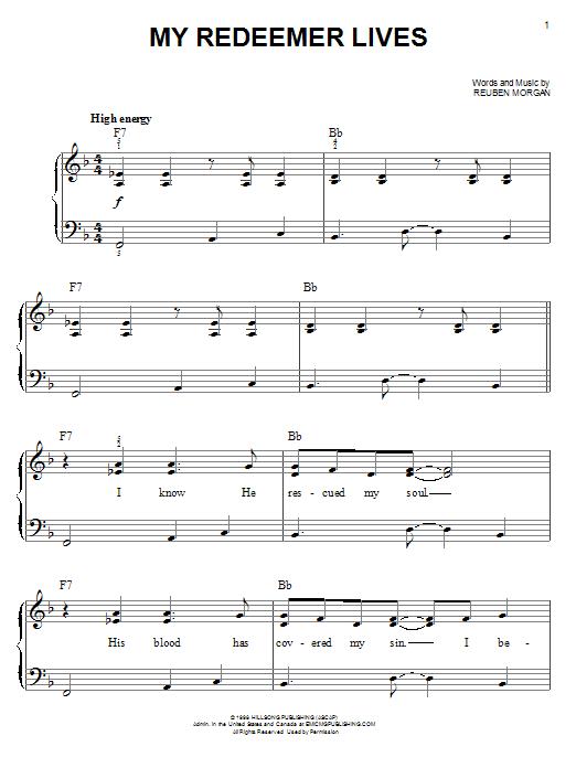 Sheet Music Digital Files To Print Licensed Reuben Morgan Digital