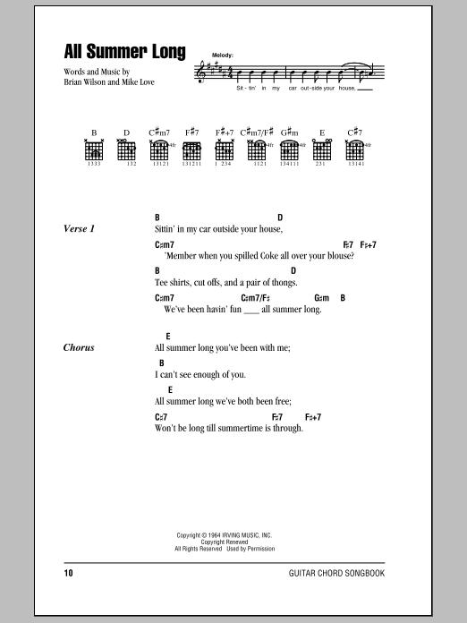 The Beach Boys – All Summer Long Lyrics | Genius Lyrics