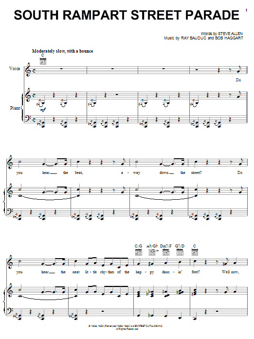 Sheet Music Digital Files To Print - Licensed Bob Haggart Digital ...