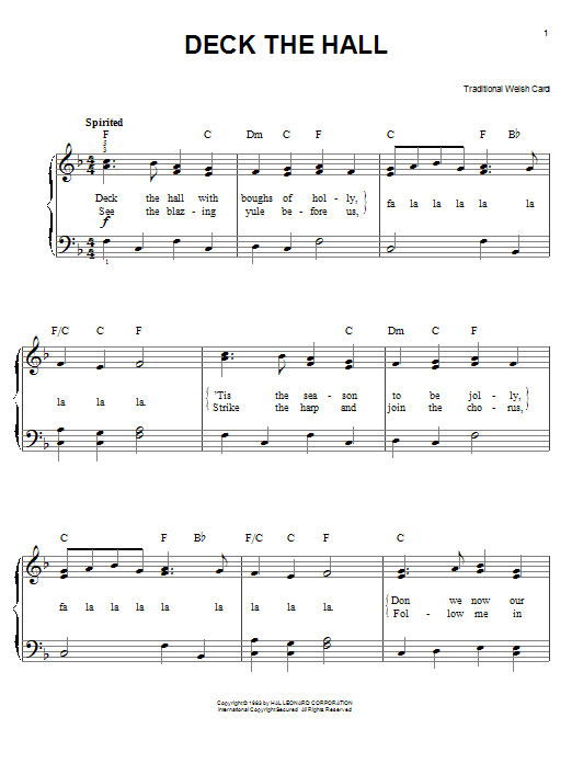 Deck The Hall : Sheet Music Direct