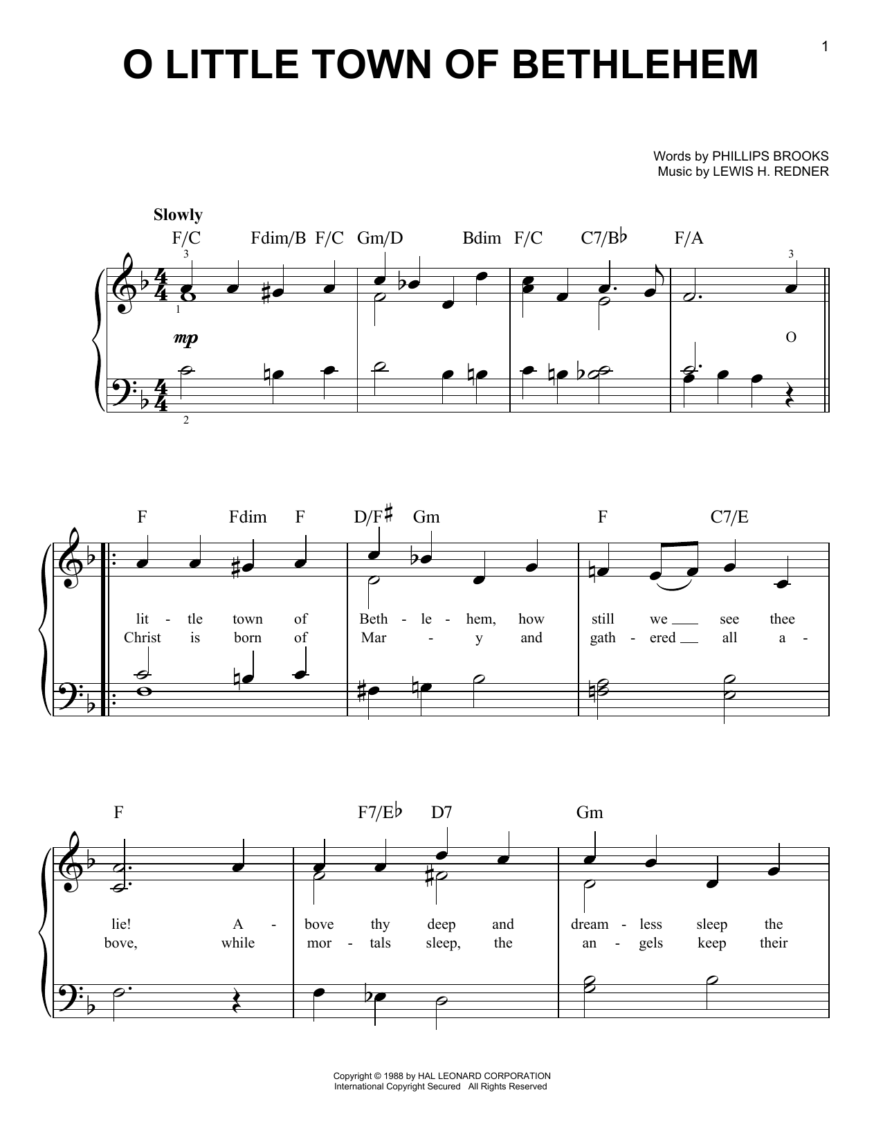Sheet Music Digital Files To Print Licensed Phillips Brooks