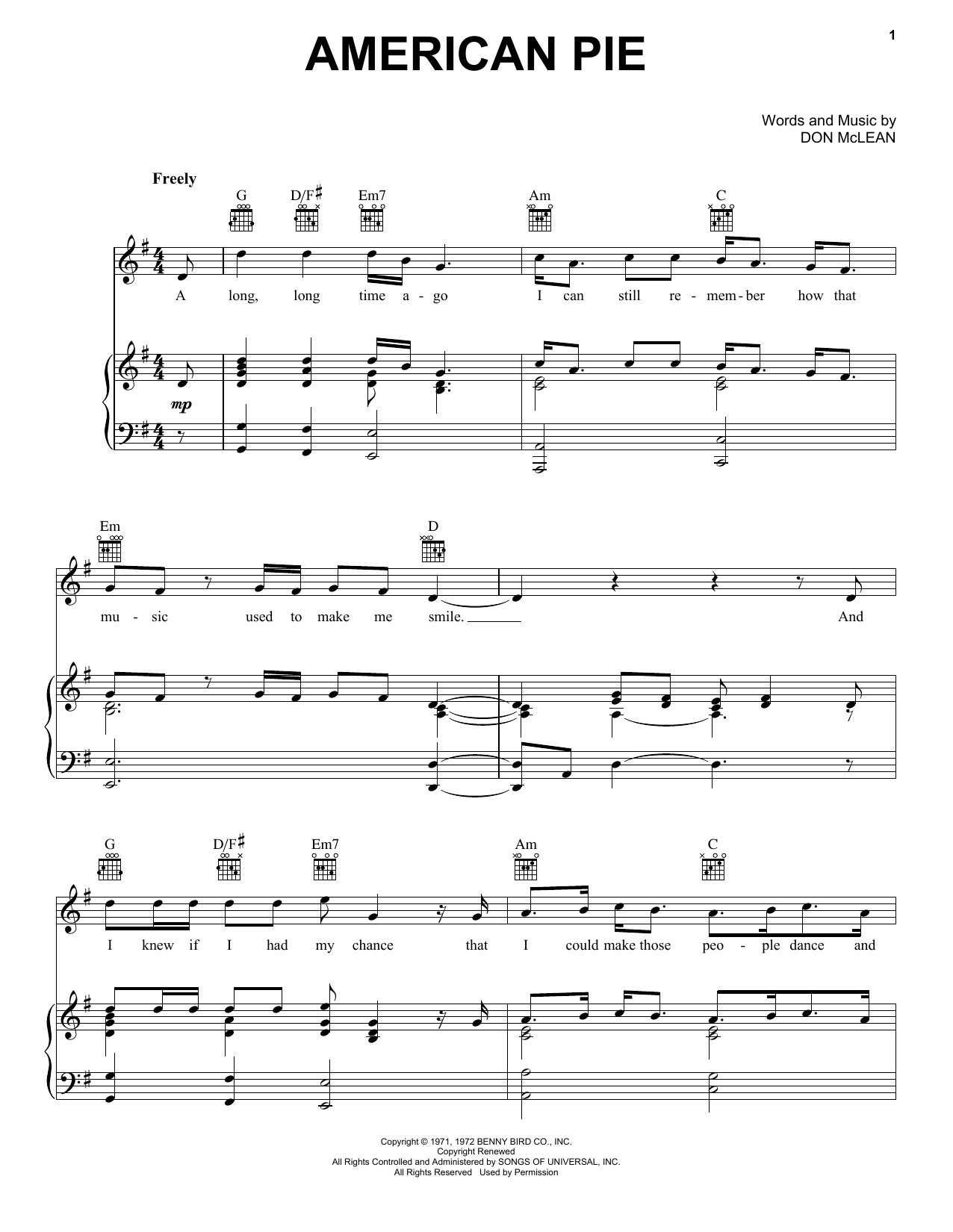 Sheet music digital files to print licensed don mclean digital sheet music digital files to print licensed don mclean digital sheet music hexwebz Gallery