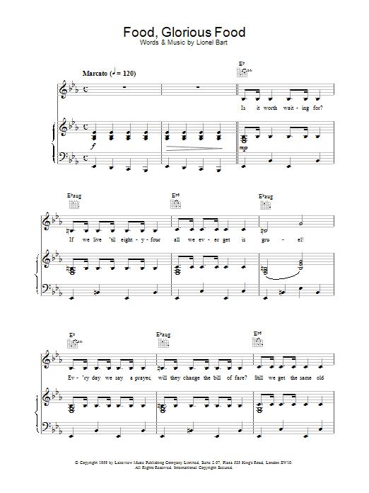 Sheet Music Digital Files To Print - Licensed Oliver! (Musical ...