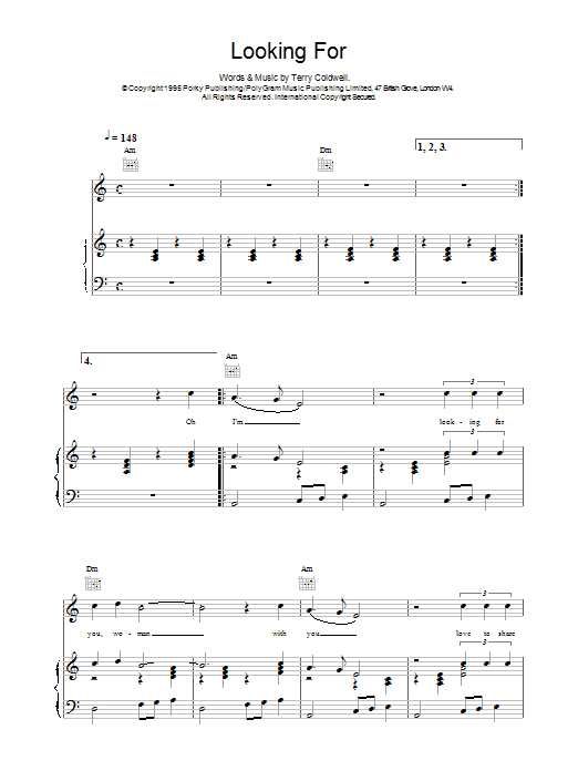 Looking For sheet music for voice, piano or guitar by East 17