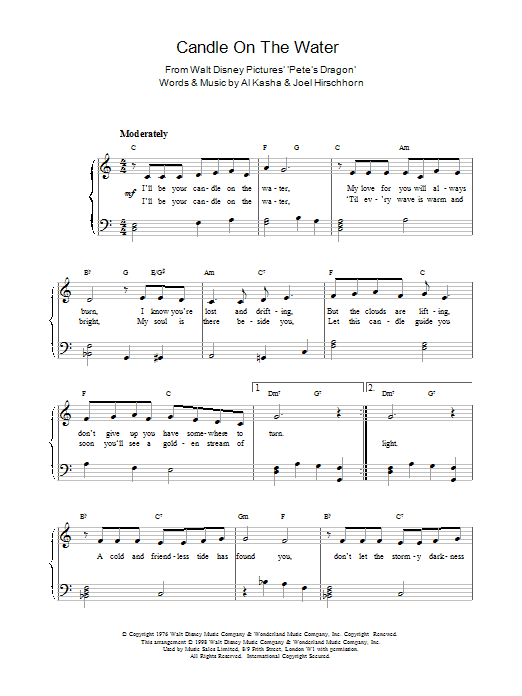Sheet Music Digital Files To Print Licensed Al Kasha Digital Sheet