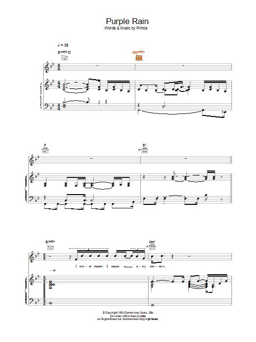 Sheet Music Digital Files To Print - Licensed Prince & The ...