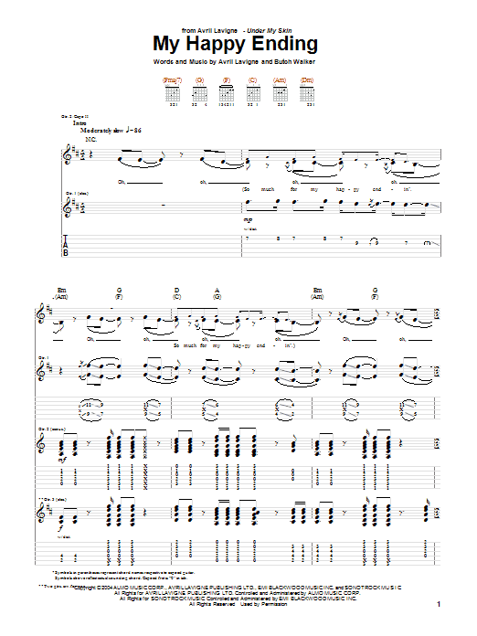 Sheet Music Digital Files To Print Licensed Avril Lavigne Digital