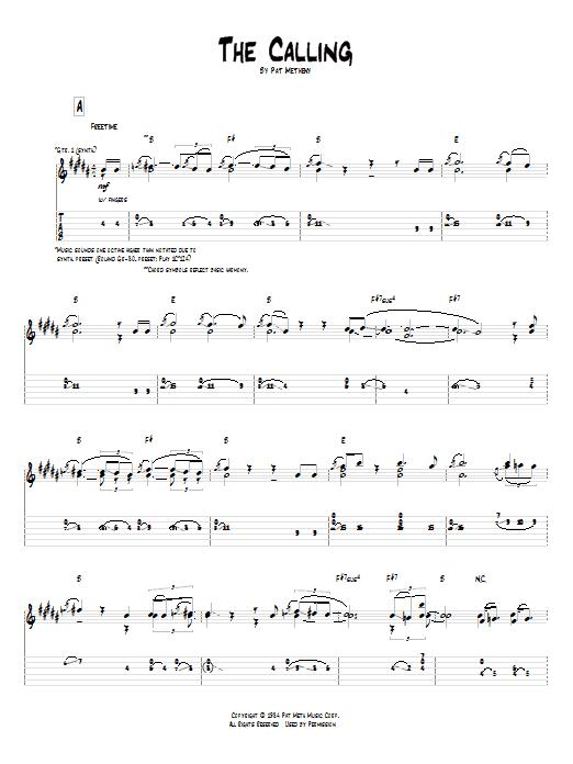 Tablature guitare The Calling de Pat Metheny - Tablature Guitare