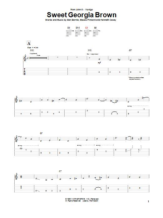 Tablature guitare Sweet Georgia Brown de John 5 - Tablature Guitare