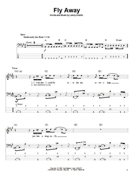 Sheet Music Digital Files To Print - Licensed Lenny Kravitz Digital ...