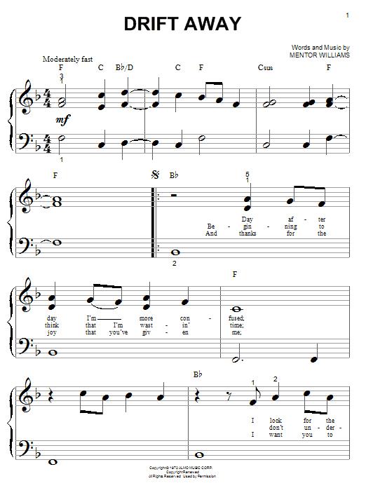 Partition piano Drift Away de Dobie Gray - Piano Facile