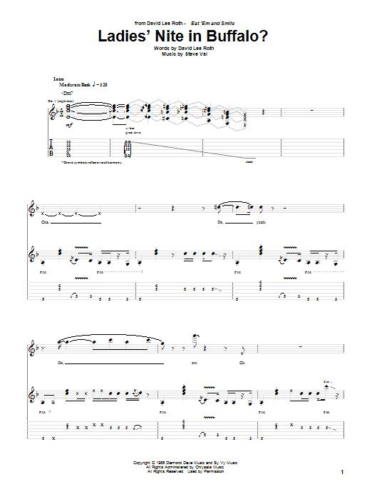 Tablature guitare Ladies' Nite In Buffalo? de David Lee Roth - Tablature Guitare