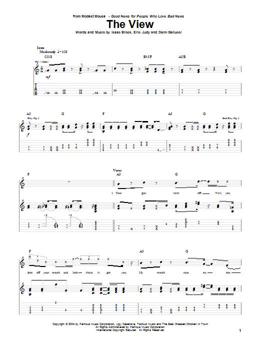 Tablature guitare The View de Modest Mouse - Tablature Guitare