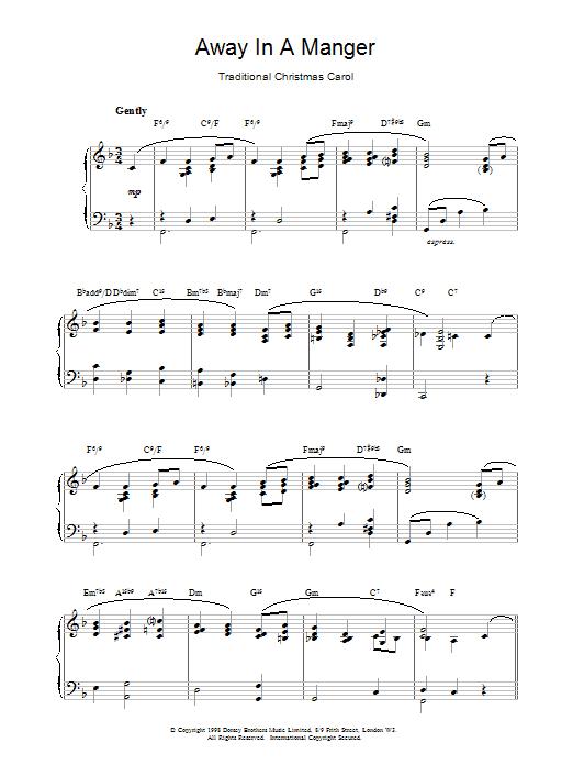 Away In A Manger : Sheet Music Direct