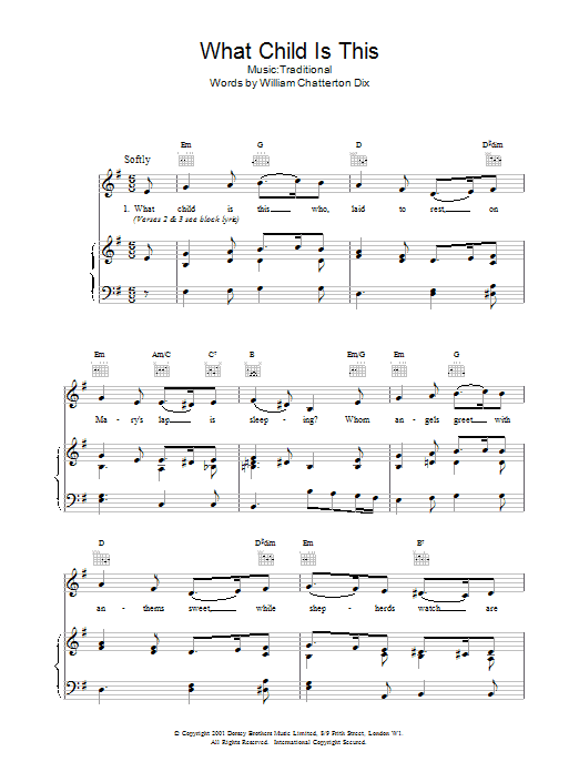 What Child Is This? : Sheet Music Direct