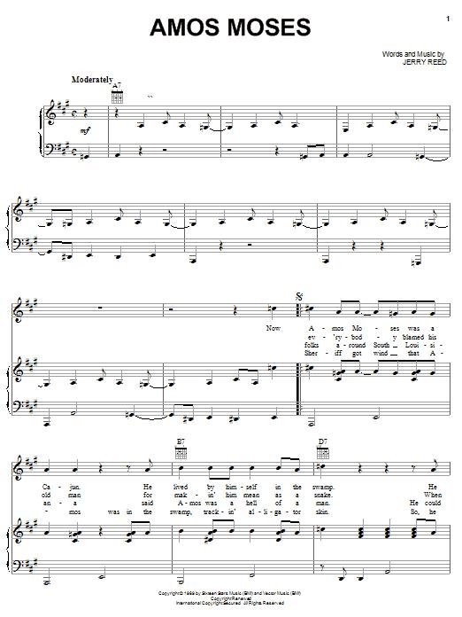 Jerry Reed Amos Moses Lyrics - YouTube
