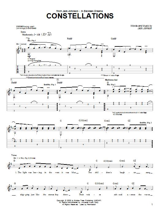 Sheet Music Digital Files To Print - Licensed Jack Johnson Digital ...