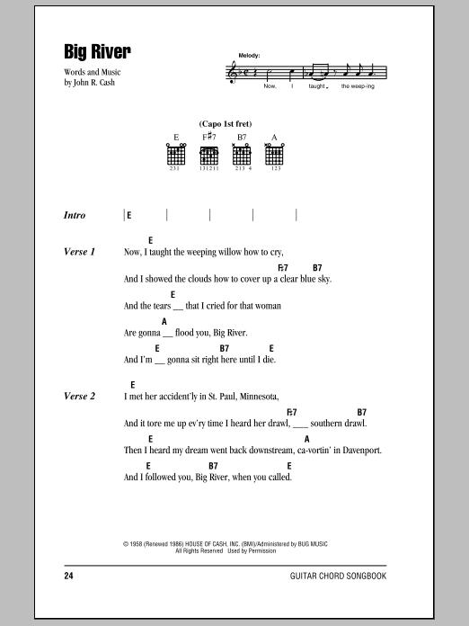Sheet Music Digital Files To Print - Licensed John R. Cash Digital ...