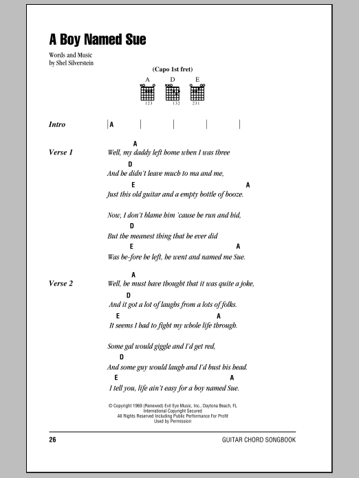 Sheet Music Digital Files To Print - Licensed Shel Silverstein ...