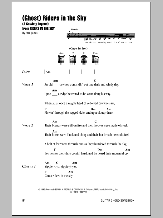 Sheet Music Digital Files To Print - Licensed Johnny Cash Digital ...