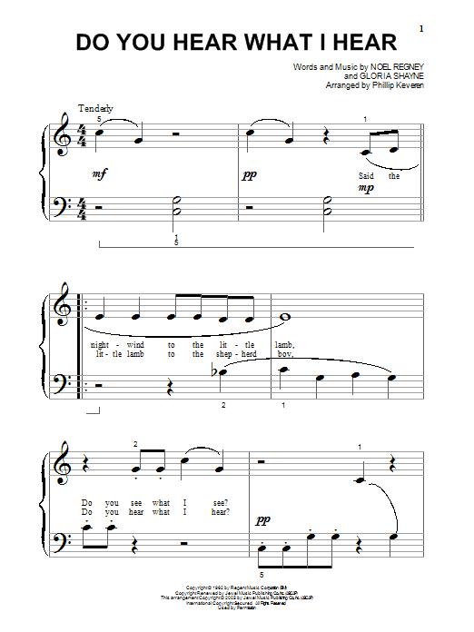 Partition piano Do You Hear What I Hear de Gloria Shayne - Piano Facile