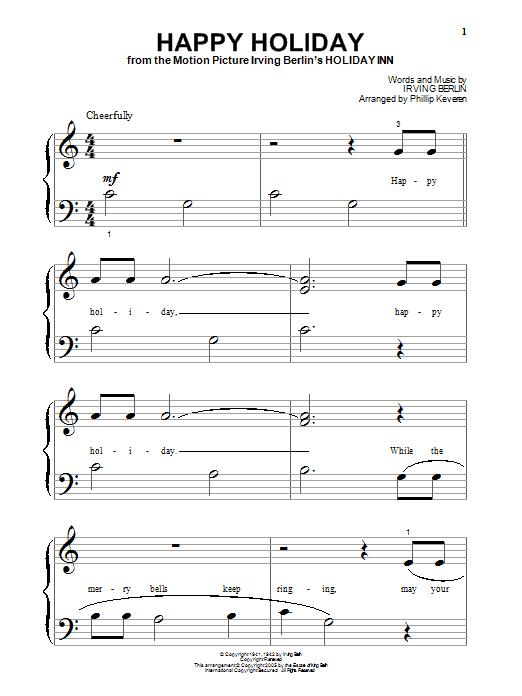 Partition piano Happy Holiday de Irving Berlin - Piano Facile