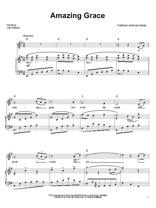 Amazing grace sheet music guitar