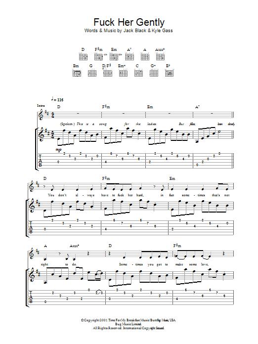 Sheet Music Digital Files To Print - Licensed Tenacious D Digital ...