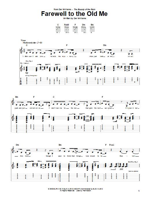 Tablature guitare Farewell To The Old Me de Dar Williams - Tablature Guitare