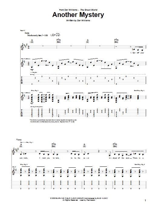 Tablature guitare Another Mystery de Dar Williams - Tablature Guitare