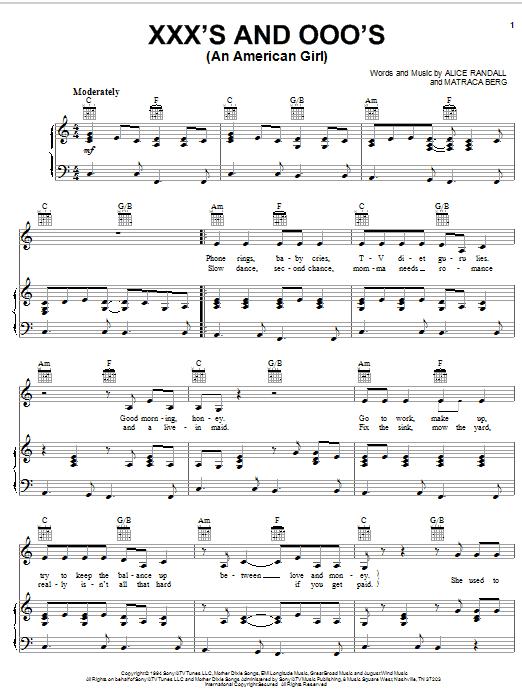 Xxxs and ooos lyrics