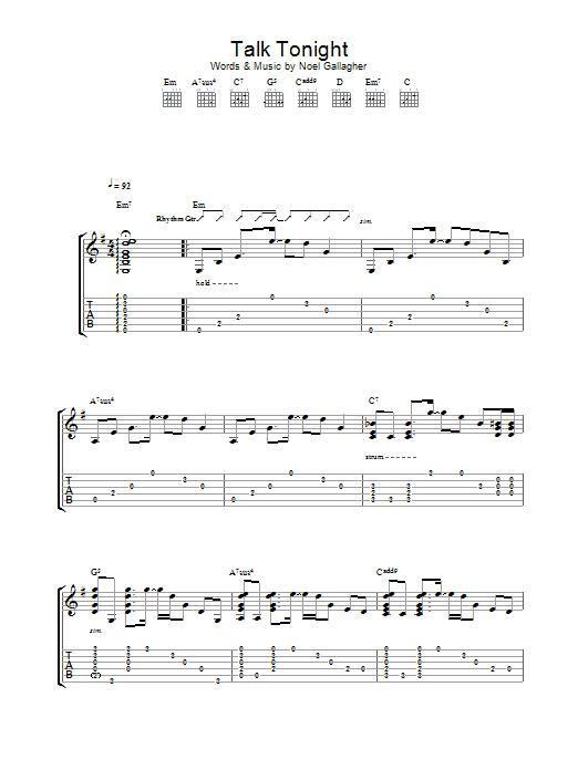 Sheet Music Digital Files To Print - Licensed Noel Gallagher Digital ...