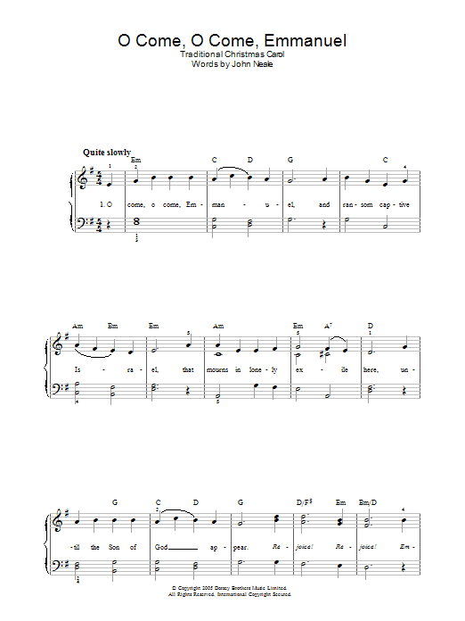 John M. Neale - O Come, O Come Emmanuel