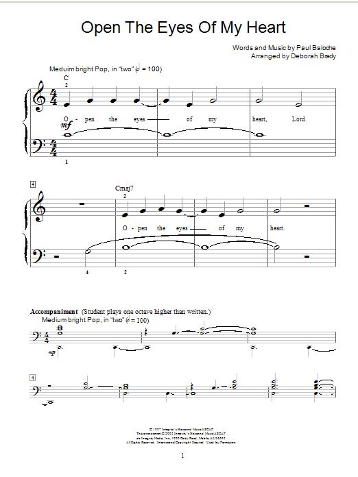 Sheet Music Digital Files To Print - Licensed Paul Baloche Digital ...