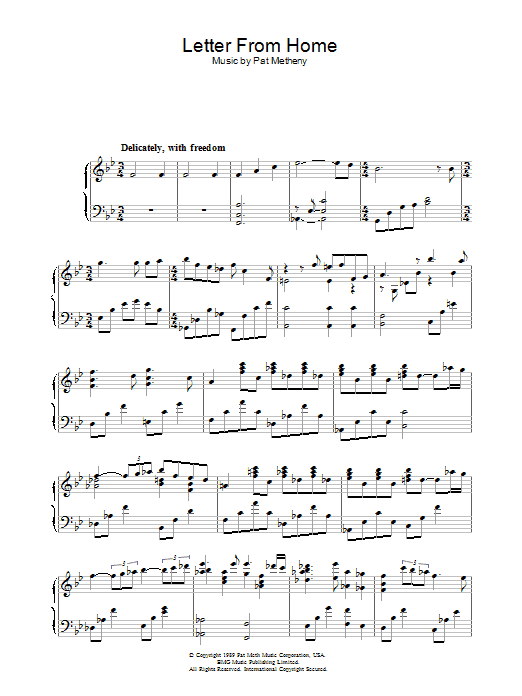 Letter From Home | Sheet Music Direct